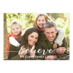 Simply Believe Holiday Photo Card Invitation Card
