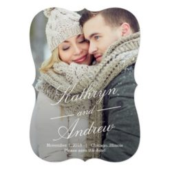 Simply Us Photo Save The Date Cards Invitation Card