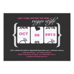 Slot Machine Bachelorette Party In Vegas Invitation Card