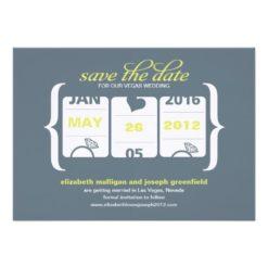 Slot Machine Save The Date - Wedding Invitation Card