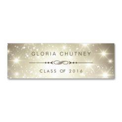 Sparkling Bokeh Personal Graduation Name Card Double-Sided Mini Business Cards (Pack Of 20)