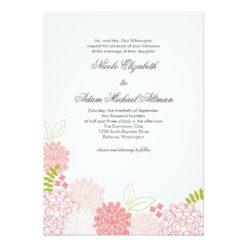 Spring Blossoms Wedding Invitation Card