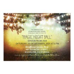 String Of Lights Rustic Prom Invitation Card
