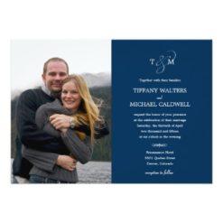 Stylish Ampersand Wedding Photo Invitation Card