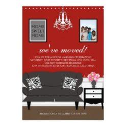 Stylish Decor Housewarming Invitation Card