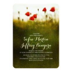 Summer Meadow Wildflowers Wedding Invitation Card