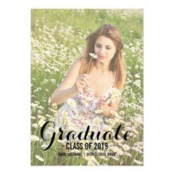 Summer Photo Filter Photo Graduate Party Invitation Card