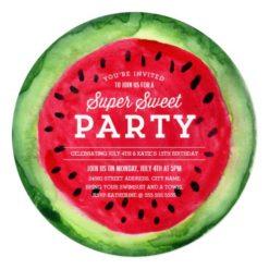 Summer Slice Invite Square Invitation Card