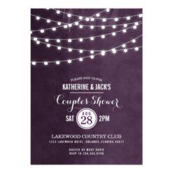 Summer String Lights Couples Shower Invitation Card