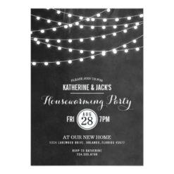 Summer String Lights Housewarming Party Invitation Card