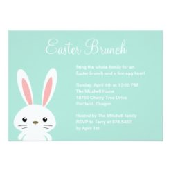 Sweet Bunny Easter Party Invitation Card