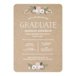 Sweet Floral | Graduation Invitation Card