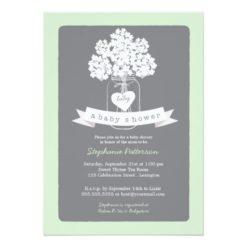 Sweet Mason Jar Neutral Baby Shower Invitation Card