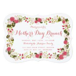 Sweet Pink Floral Mother'S Day Brunch Invitation Card
