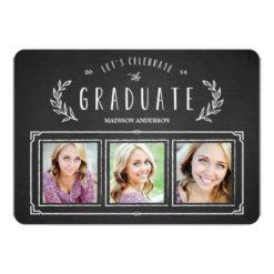Sweet Wreath   Graduation Announcement Invitation Card