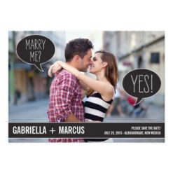 Talk Bubbles Wedding Save The Date Cards Invitation Card