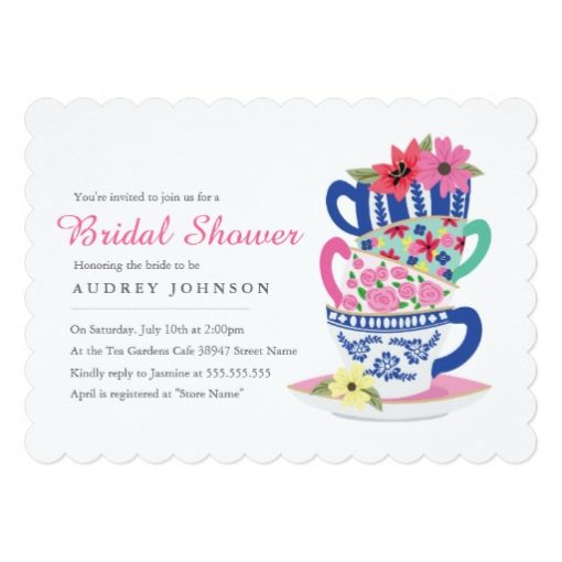 Tea Time Bridal Shower Invitation Card