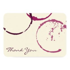 Thank You Flat Note Cards | Wine Stain Rings Invitation Card