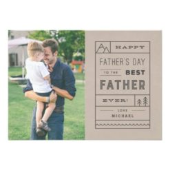 The Best Father Father'S Day Card - Tan Invitation Card