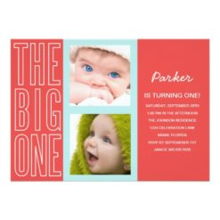 The Big One In Red | First Birthday Invitation Card