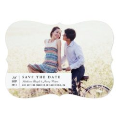 Timeless Charm Save The Date Invitation Card
