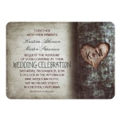 Tree Rustic Wedding Invitation Card