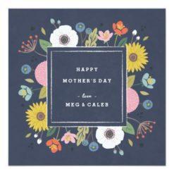 Trellis Non-Photo Mother'S Day Card - Navy Square Invitation Card