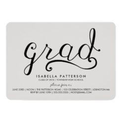 Trendy Grad Gray Graduation Invitation Card