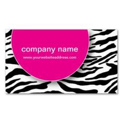 Trendy Wild Zebra Stripes Business Cards