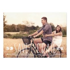 Tribal Pattern Photo Save The Date Announcement Invitation Card