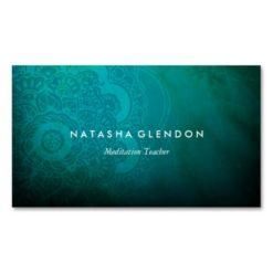 Turquoise Blue Mandala Zen Business Card Business Cards