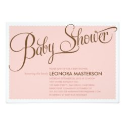 Typography Baby   Baby Shower Invitation Card