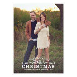 Very Married Christmas | Holiday Photo Card Invitation Card