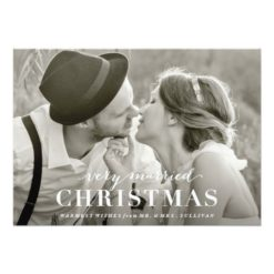 Very Married Christmas Newlywed Holiday Card Invitation Card