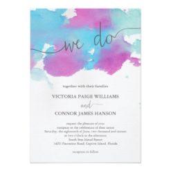 Vibrant Dreams Wedding Invitation Card
