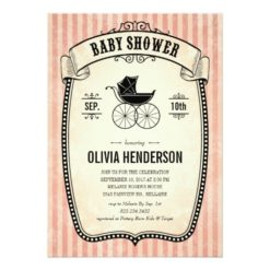 Victorian Vintage Baby Shower Invitations For Girl Invitation Card