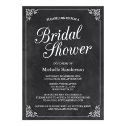 Vintage Chalkboard Bridal Shower Invitation Card