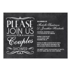 Vintage Chalkboard Couples Shower Invitation Card