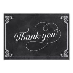Vintage Chalkboard Thank You Paper Invitation Card