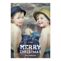 Vintage Christmas Holiday Photo Cards Invitation Card