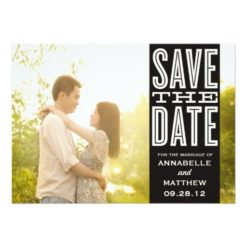 Vintage Love | Save The Date Announcement Invitation Card