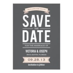 Vintage Poster | Save The Date Announcement Invitation Card