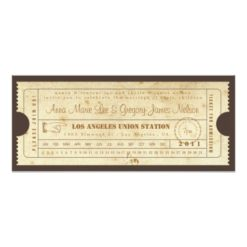 Vintage Ticket Invitation - Punch Card Invitation Card