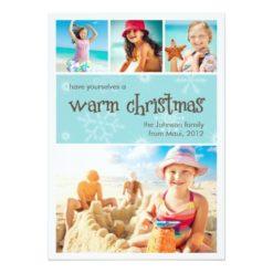 Warm Christmas 4 Photo Holiday Card Invitation Card