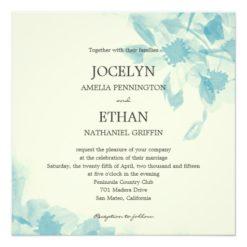 Watercolor Floral Wedding Invitation Square Invitation Card