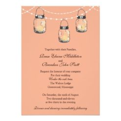Wedding - 3 Hanging Mason Jars Invitation Card