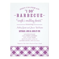 "Wedding Couple'S Shower Invitation   ""I Do"" Bbq Invitation Card"