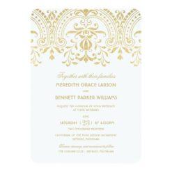 Wedding Invitations | Gold Vintage Glamour Invitation Card