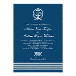 Wedding Invitations   Nautical Stripes Theme Invitation Card