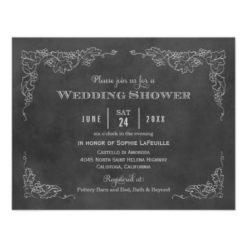 Wedding Shower Invitation | Vintage Vineyard Invitation Card
